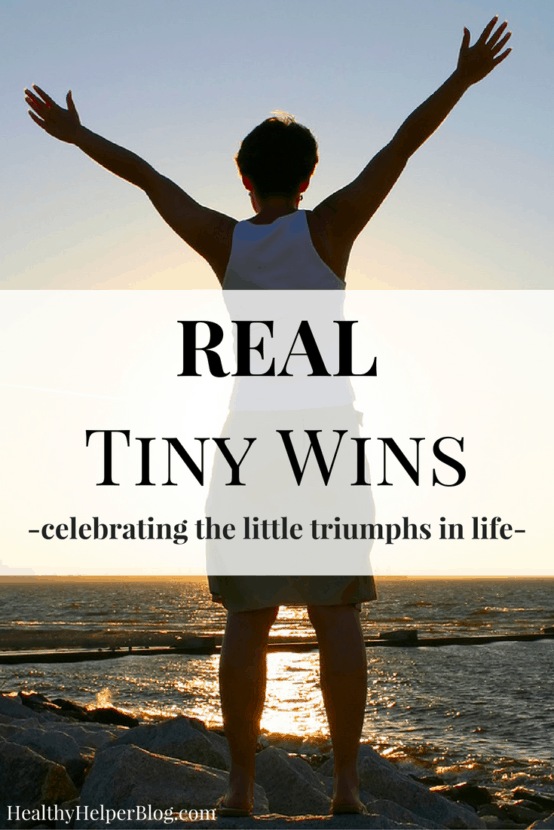 Real Tiny Wins | Healthy Helper @Healthy_Helper A discussion on redefining what counts as a 'win' in life instead of focusing on aesthetics, physical achievements, weight loss goals, or food restriction. There is so much to celebrate in your daily life...focus on the things that matter and make a difference!
