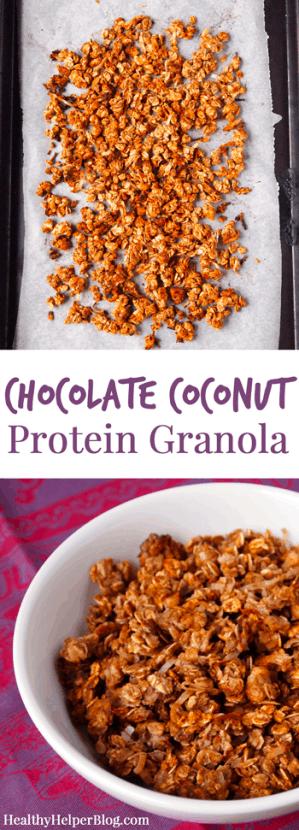 Chocolate Coconut Protein Granola