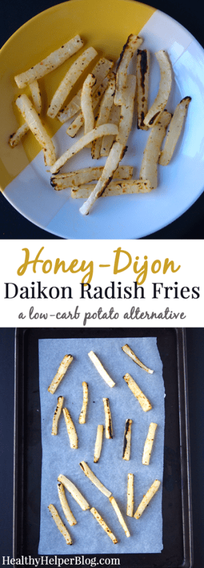Honey-Dijon Daikon Radish Fries