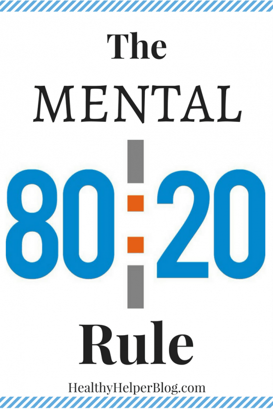 The Mental 80/20 Rule | Healthy Helper @Healthy_Helper A discussion on emotions, disposition, and really letting yourself feel your authentic feelings. It's impossible to be happy and positive 100% of the time and we shouldn't force ourselves to fake it if it's not truly how we're feeling.