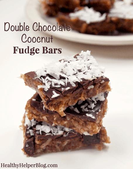 Double Chocolate Coconut Fudge Bars no-bake, vegan, gluten-free] from ...