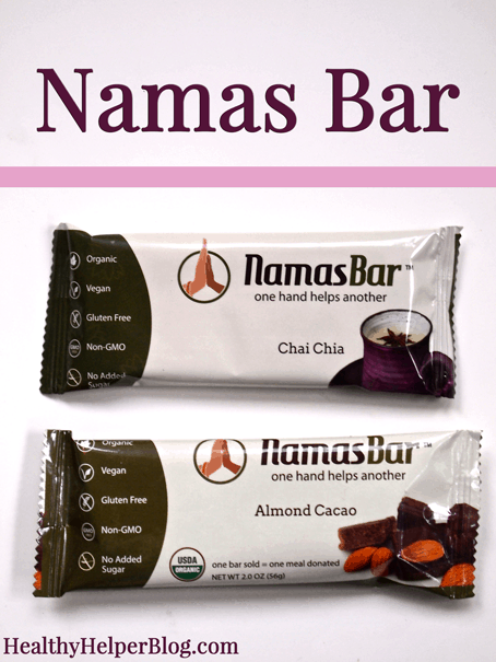 Namas Bar Review from Healthy Helper Blog
