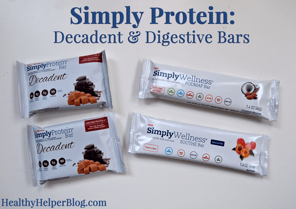 Simply Protein & Wellness Bar Review from Healthy Helper Blog