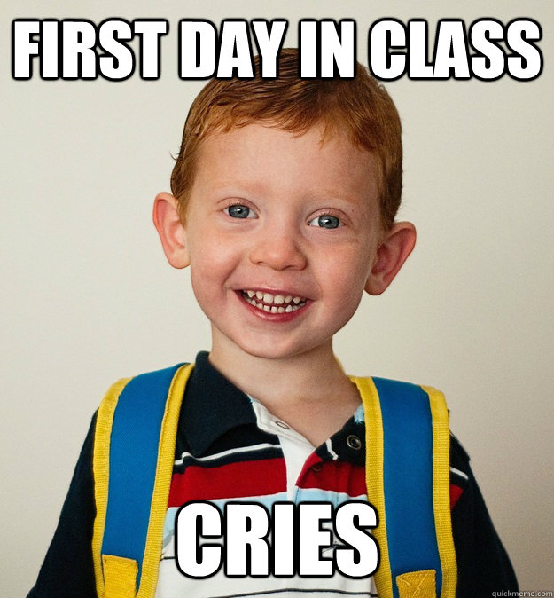 First Day of Classes Meme
