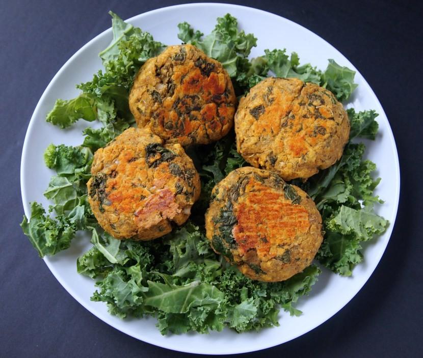 Spicy Kale Lentil Burgers   Healthy Helper @Healthy_Helper