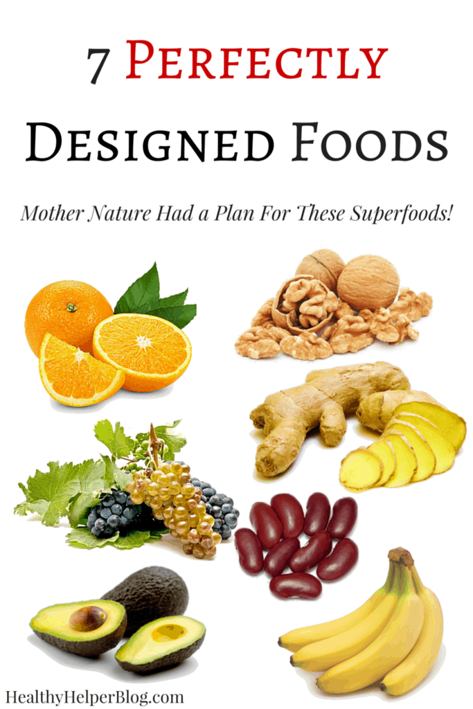 7 Perfectly Designed Foods from Healthy Helper...healthy foods that LOOK like the body parts they benefit! Plus some awesome recipes to make with them! https://healthyhelperblog.com?utm_source=utm_source%3DPinterest&utm_medium=utm_medium%3Dsocialmedia&utm_campaign=utm_campaign%3Dblogpost