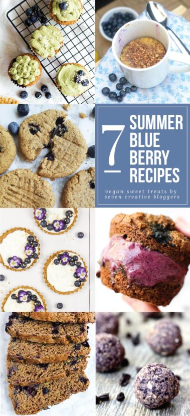7 Summer Blueberry Recipes from your favorite vegan bloggers! | @Healthy_Helper