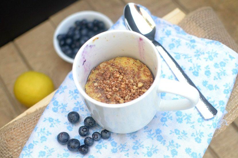 Lemon Blueberry Crumb Cake in a Mug