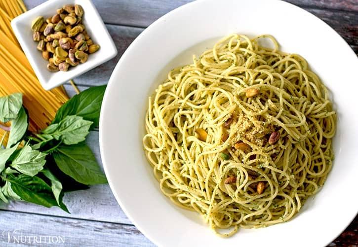 Vegan Pistachio Pesto Pasta
