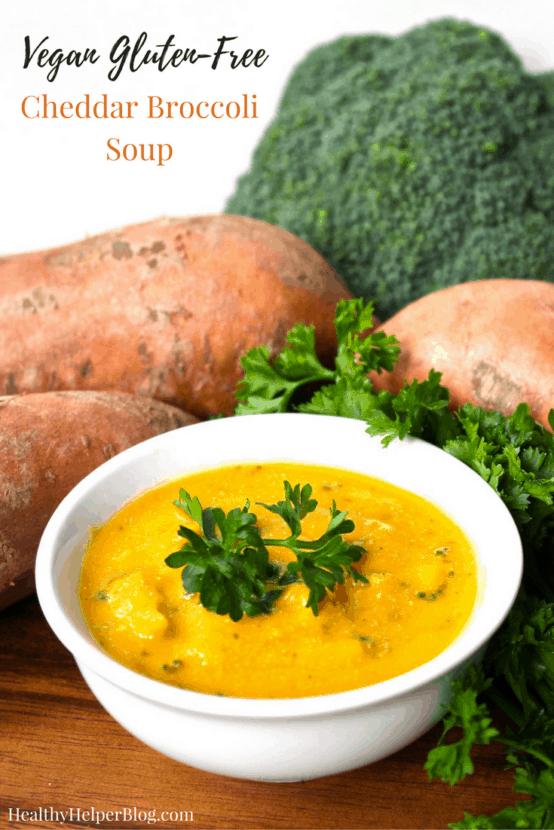 Hclf Vegan Cheddar Broccoli Soup Healthy Helper Athealthy Helper Vegans Rejoice This Cheddar Broccoli