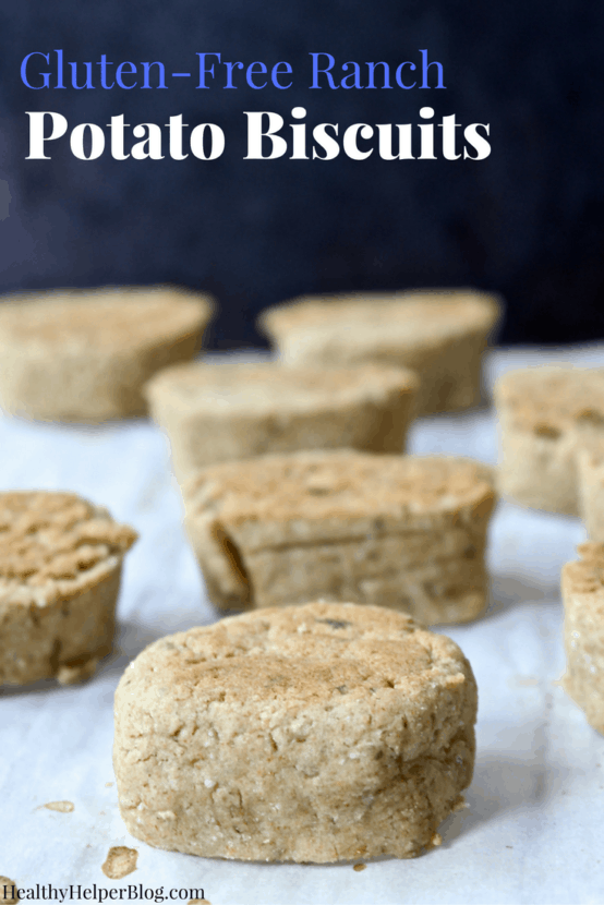 Gluten-Free Ranch Potato Biscuits | Healthy Helper @Healthy_Helper A healthy take on a carb-filled favorite! Ranch-flavored, creamy tasting biscuits with the added softness of potatoes and the doughiness of gluten-free oat flour. The perfect addition to your holiday table or dinner menu for the week!