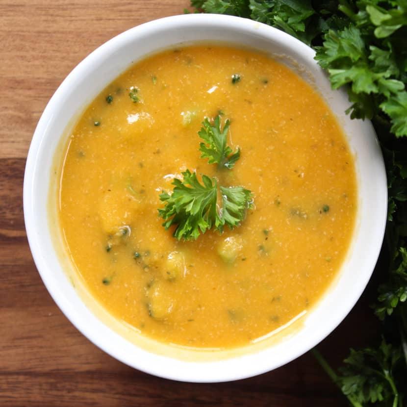 HCLF Vegan Cheddar Broccoli Soup Cranberry Bacon Date Cracker Stacks | Healthy Helper @Healthy_Helper