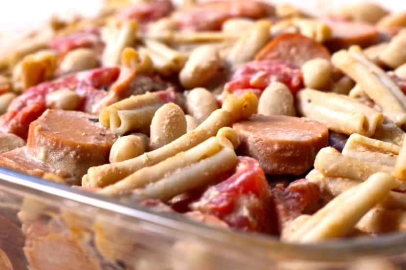 Vegan Pork n' Bean Mac and Cheese | Healthy Helper @Healthy_Helper