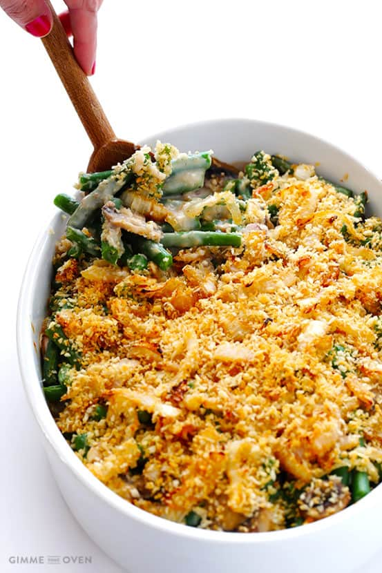 Healthier Green Bean Casserole | Healthy Helper @Healthy_Helper