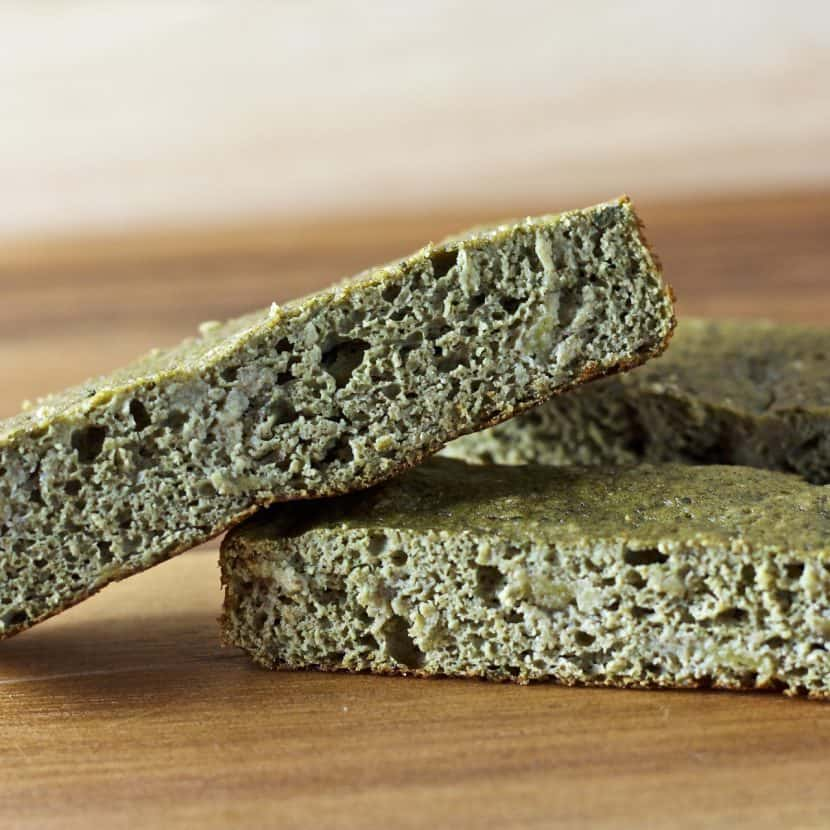 Vanilla Matcha Banana Bread Bars   Healthy Helper @Healthy_Helper Soft baked snack bars with the sweet taste of banana, fragrant vanilla, and earthy matcha! High protein, gluten-free, and perfect for when you're craving banana bread without all the calories and fat. No added sugar either!