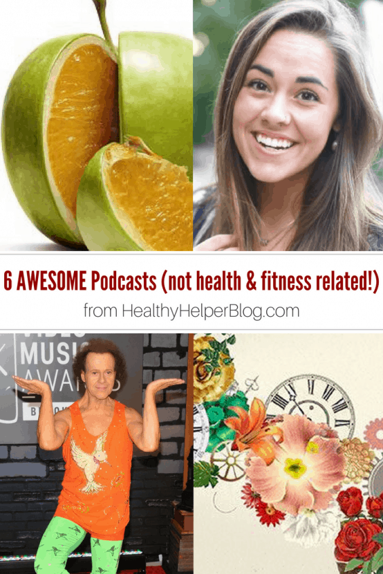 6 Awesome Podcasts (that have nothing to do with health and fitness) | Healthy Helper @Healthy_Helper A roundup of 6 awesome podcasts outside the realm of health and fitness! For when you feel like listening to something that DOESN'T have a focus on healthy living and wellness. Sometimes, we could all use a break!