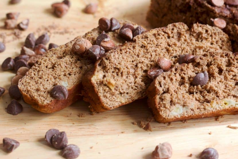 Gluten-Free Mocha Banana Bread | Healthy Helper @Healthy_Helper