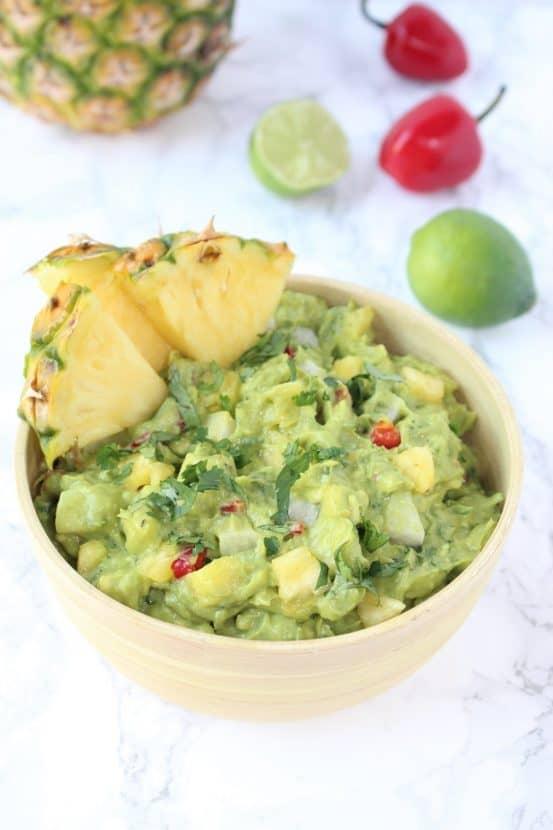 Pineapple Jicama Guacamole   Healthy Helper @Healthy_Helper