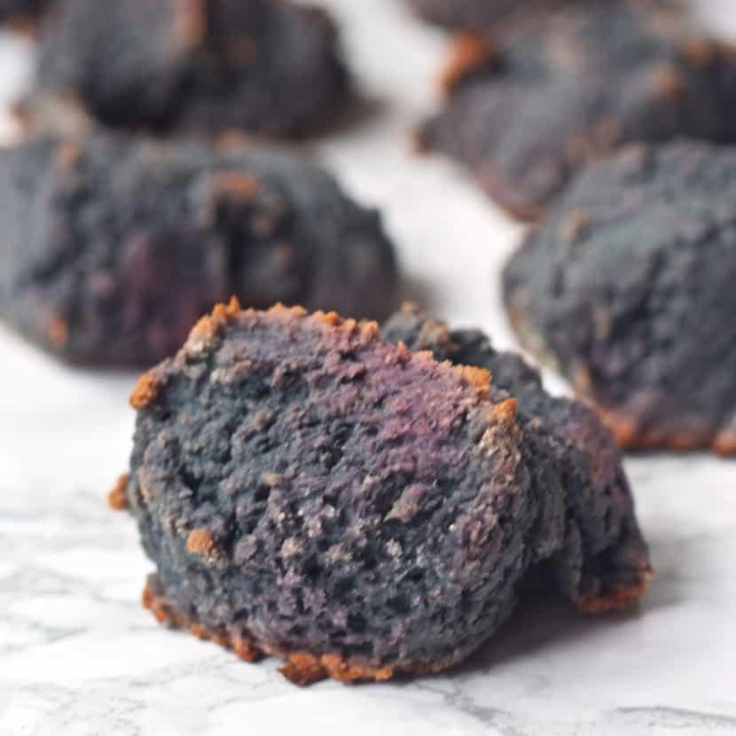 Purple Sweet Potato Biscuits | Healthy Helper @Healthy_Helper