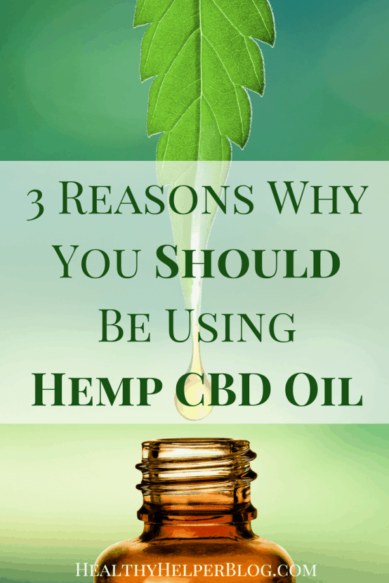 3 Reasons Why You Should Be Using Hemp CBD Oil   Healthy Helper @Healthy_Helper Three important reasons why you should be incorporating Hemp CBD oil into your daily healthy living routine. Unlike, THC, CBD is non-psychoactive.CBD and THC are completely different and CBD has amazing health mind and body benefits if ingested routinely.