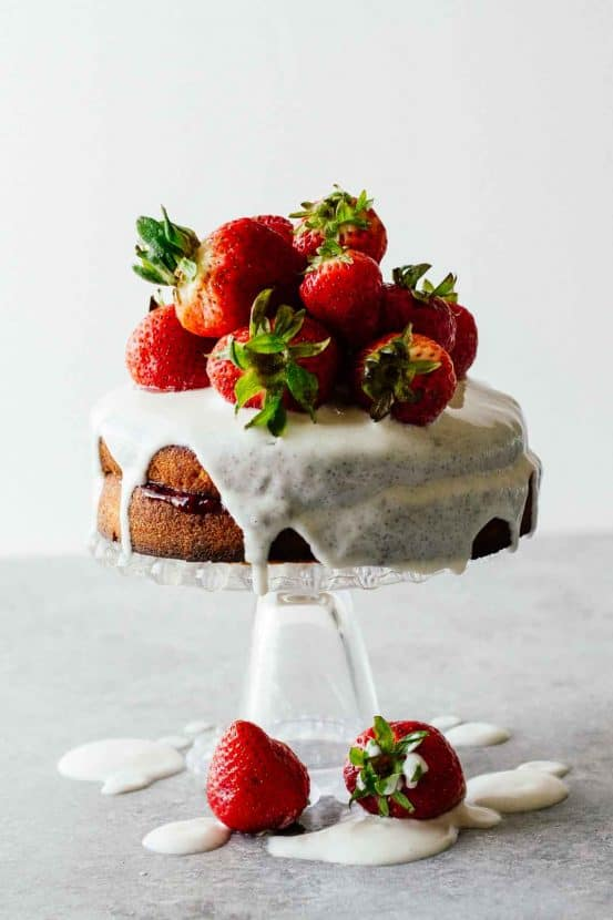 Strawberry Shortcake with Sugar-Free Glaze   Healthy Helper @Healthy_Helper