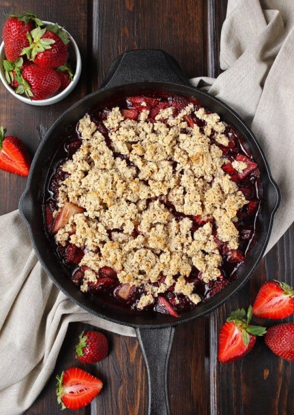 Paleo Strawberry Shortcake Cobbler   Healthy Helper @Healthy_Helper