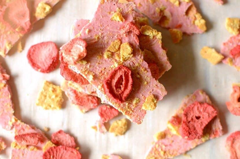 Strawberry Shortcake Almond Butter Bark   Healthy Helper @Healthy_Helper