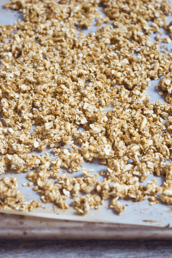 Savory Southwestern Granola | Healthy Helper @Healthy_Helper A savory spin on a classic snack! This cheesy, salty Southwestern Granola is crunchy and satisfying. It's high protein, naturally gluten-free, and low in fat. Perfect for munching on the go and changing things up from your usual snack options.