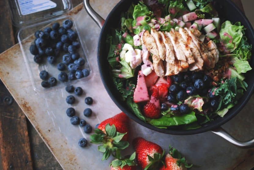 Grilled Chicken and Berry Salad   Healthy Helper @Healthy_Helper