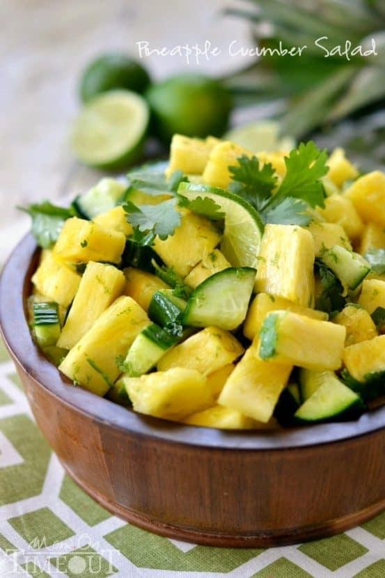 Pineapple Cucumber Salad   Healthy Helper @Healthy_Helper