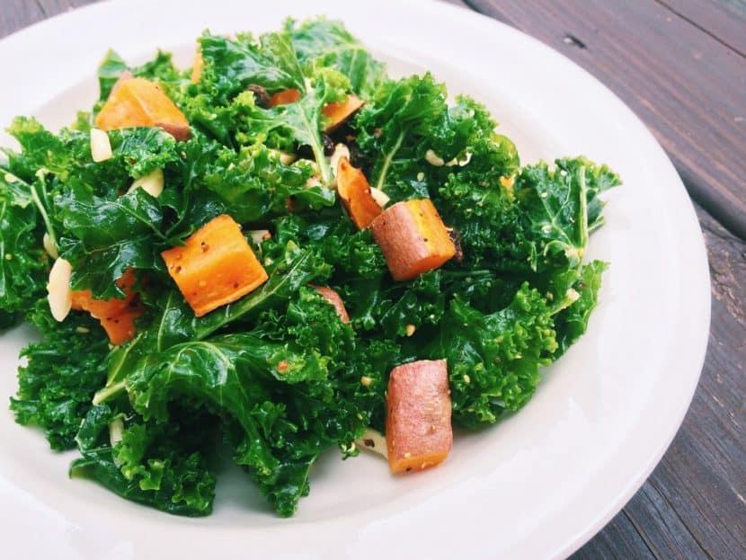 Kale and Sweet Potato Salad   Healthy Helper @Healthy_Helper