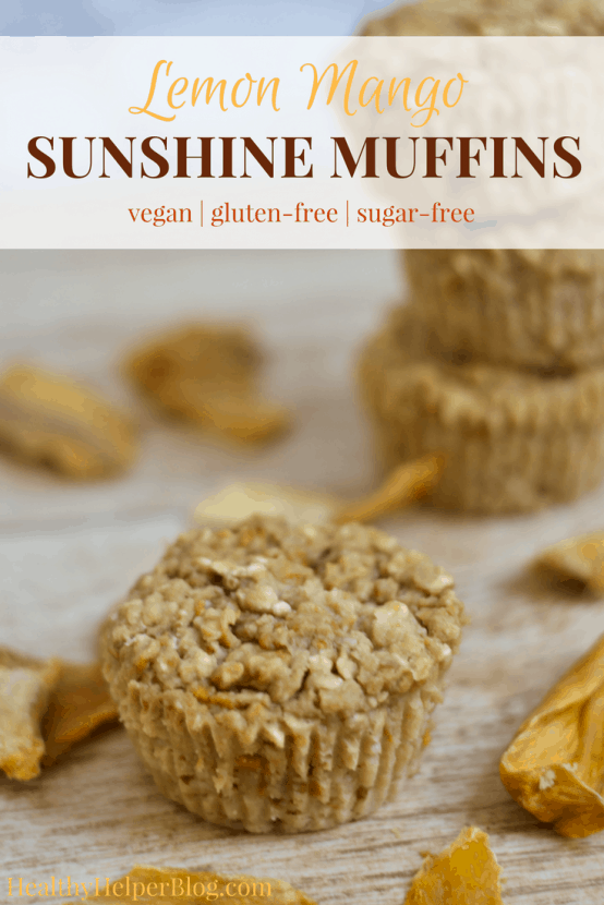 Lemon Mango Sunshine Muffins | Healthy Helper @Healthy_Helper Vegan and gluten-free Lemon Mango Muffins have the fruity, sweet taste of sunshine in every bite! Tropical and light, these healthy muffins are perfect for starting your day with or snacking on when a sweet craving strikes. High in protein from a secret ingredient and so densely delicious...you won't be able to stop at just one!