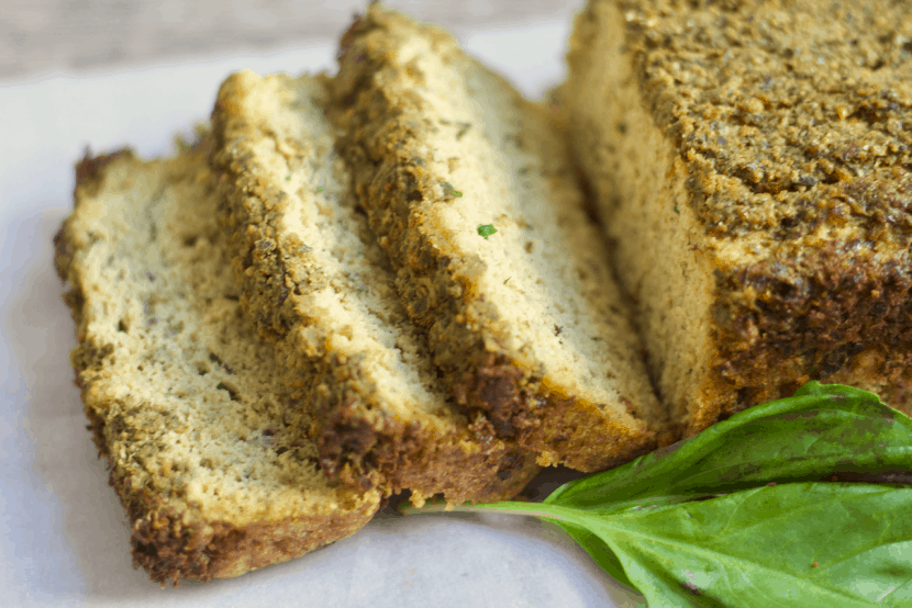 PALEO Pesto Bread | Healthy Helper @Healthy_Helper A savory basil bread made paleo and 100% grain-free! This deliciously herby Pesto Bread is full of rich flavor, nuttiness, and cheesy taste despite being dairy-free. Gluten-free and perfect for pairing with your favorite main dish.
