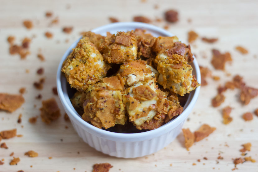 Cheesy Tofu Nuggets | Healthy Helper @Healthy_Helper Crispy & crunchy on the outside, soft on the inside, and SO flavorful! These Cheesy Tofu Nuggets are the perfect plant-based alternative to your favorite finger foods. Vegan, gluten-free, and so easy to make! You'll love them for a healthy snack or appetizer at your next get-together.