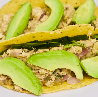 Hawaiian Tuna Tacos | Take a trip to the tropics with these healthy Hawaiian Tuna Tacos. A mix of sweet n' savory flavor spiced with fresh herbs and fruit. Delicious for a quick lunch or dinner any season!