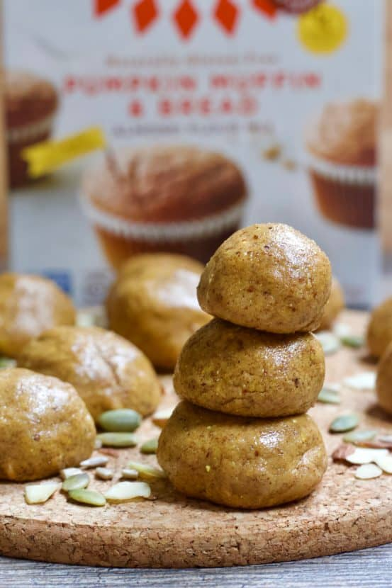 2 Ingredient Pumpkin Bread Bites | Healthy Helper These 2 Ingredient Pumpkin Bread Bites are incredibly easy to make for healthy, sweet snacks on the go! Vegan, gluten-free, & grain-free, these bites taste just like a fresh loaf of pumpkin bread without any baking required. Perfect for fall!