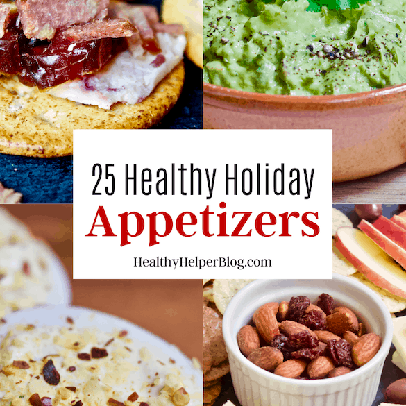 25 Healthy Holiday Appetizers | A roundup of healthy appetizers to make for the holidays or just for entertaining in general. Vegan, gluten-free, and paleo-friendly options your guests will LOVE.