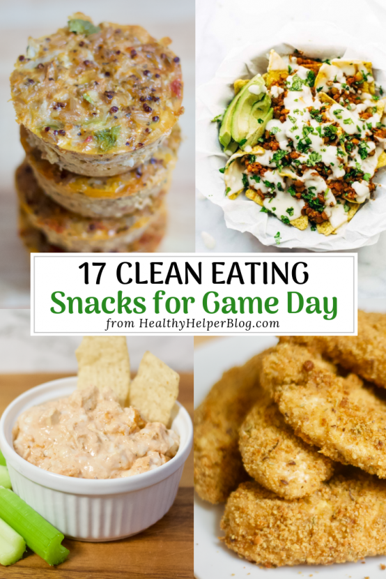 17 Clean Eating Snacks for Game Day | Healthy versions of your favorite foods to snack on while cheering your team to victory! Just as tasty, but a whole lot better for you and your family.