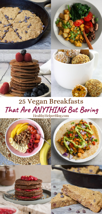 25 Unique Vegan Breakfasts | A roundup of delicious, healthy vegan breakfasts that will prove eating plant-based doesn't have to be BORING.
