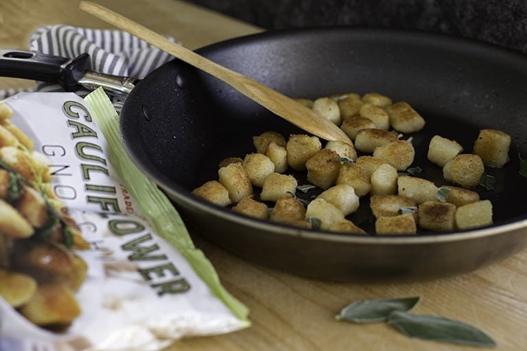 7 Sensational Ways to Serve Cauliflower Gnocchi | 7 unique, easy ways to prepare Trader Joe's cauliflower gnocchi and take it to the next level of deliciousness! Vegetarian, pescetarian, and meat options to satisfy everyone's needs. If you haven't tried cauliflower gnocchi, now you have ZERO excuses.