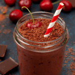 Chocolate Cherry Truffle Smoothie | Healthy Helper
