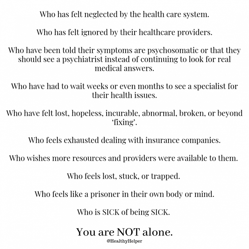 For Anyone Who Needs It | A few words of encouragement for those of you dealing with mental health or physical health issues and are feeling discouraged by the resources and healthcare providers available to you. You are not alone and there IS hope. This is for anyone who needs it.