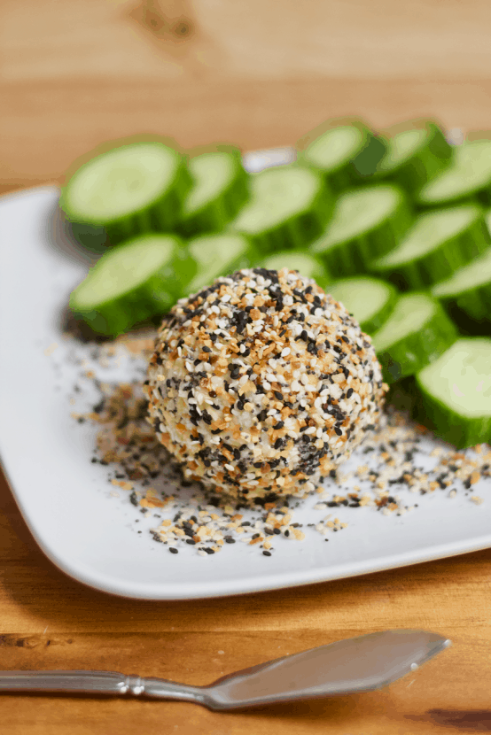 Everything Bagel Goat Cheese Ball | Healthy Helper