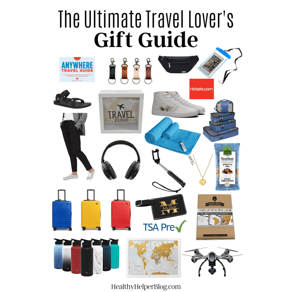 The Ultimate Travel Lover's Gift Guide | The ultimate round-up of gifts for the travel lovers or wannabe travelers in your life. Everything they'll want and need on their next adventure! 30+ unique gift ideas that any traveler will love.